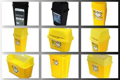Clinical Waste Containers Needle Waste Sharps Bin Disposal Box 1 2 5 10 BULK BUY