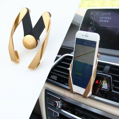 Gold Air Vent Phone Stand Mount Holder Bracket Support Universal Car Accessories