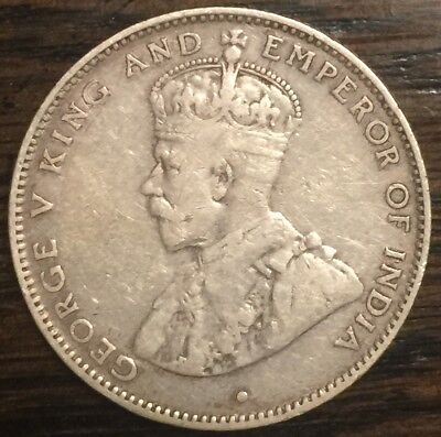 1911 British Honduras 25 Cent - Very Low Mintage - Only 14,000