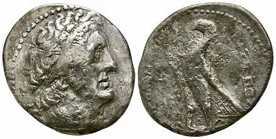 Silver tetradrachm of Ptolemy II Philadelphos 281-246 BC. LOW STARTING PRICE!