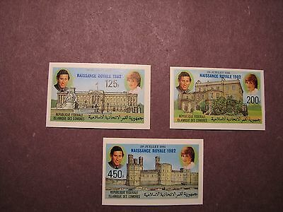Comoro Islands Stamp Scott# 522-24 Imp Prince Charles & Lady Dianna 1981 MNH L51