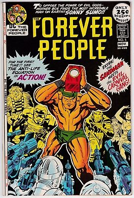 Forever People #5 VF-NM 9.0 Sandman Jack Kirby Story And Art Fourth World!