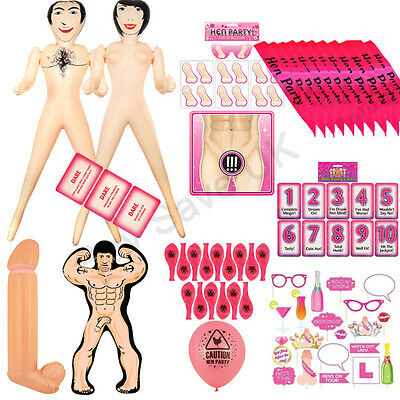 Hen Night Party Do Game Inflatable Man Blow Up Doll Fun Girls Night Out Lot