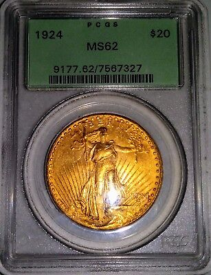 1924 $20 Saint Gaudens MS-62 Double Eagle Twenty Dollar Coin Uncirculated