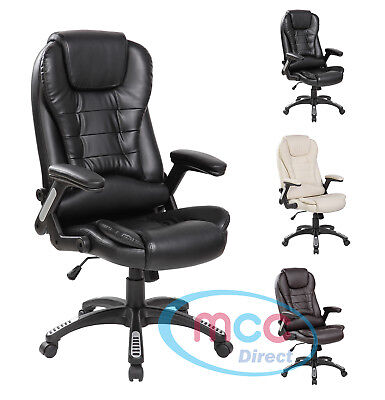 MCC® Executive Office Chair Thick Padding Desk Computer Chair Height Adjustable