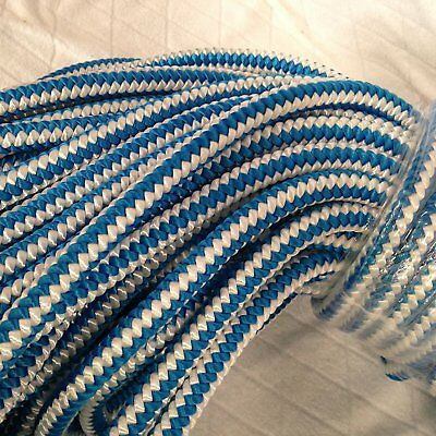 "1/2"" By 100 Feet 12-strand Polyester Blue Ox Arborist Climbing Rope"