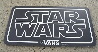 Vans Star Wars Advertising / Display Cardboard Sign 24 inches x 13 inches
