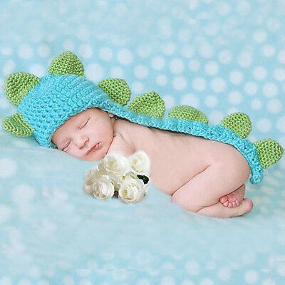 Baby Infant Newborn Handmade Crochet Beanie Hat Clothes Baby Photograph Props US