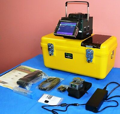 Greenlee 910FS Kit1 Fusion Splicer with 910CL Fiber Optic Cleaver, Case & More