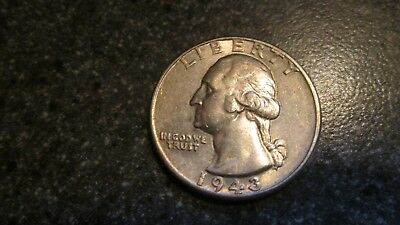 1943 P  WASHINGTON SILVER QUARTER in AU  condition. NICE DATE, FREE SHIPPING