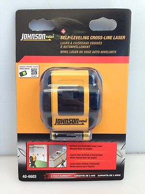 Johnson Levels Two-Beam, Self-Leveling Red Cross-Line Laser 40-6603
