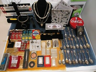 Massive Junk Drawer Lot-Over 8 Oz Of Silver Easy!+Vintage Items! Real Deal! Mint