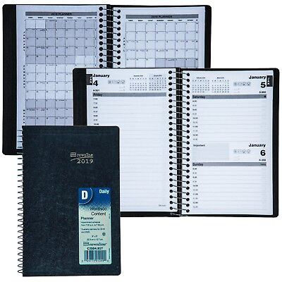 2019 Brownline C2504.81T Daily Planner Appointment Book, 8 x 5""