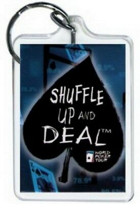 World Poker Tour Shuffle Up and Deal Lucite Keychain WK1579