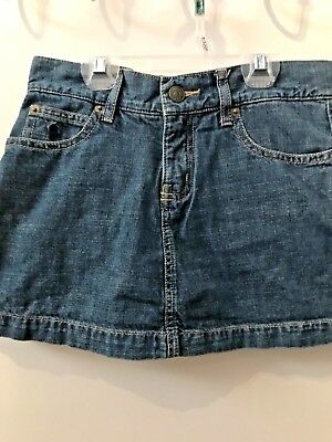 Ralph Lauren Jean Skirt with Shorts Pleated Skort Size 10 B1