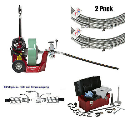 """Spartan Tool 300 Drain Cleaning Machine with .55"""" x 100' Cable and Tool Box"""