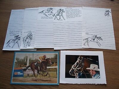 Go For Wand Guzzi Cigar Horse Racing Blank Notecard Lot Of 2