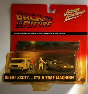 Back To The Future 5 Piece Set Delorean Diecast Scale 1/64