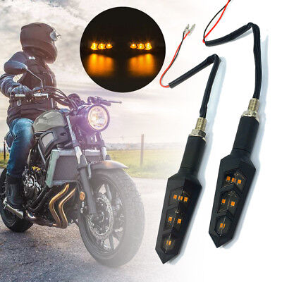 2PCS Motorcycle 6LED Turn Signal Durable Super Bright Premium Replacement