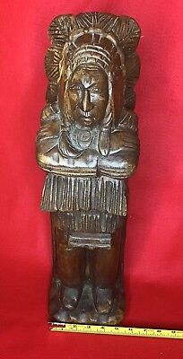 VIntage Hand Carved Wooden Indian Chief