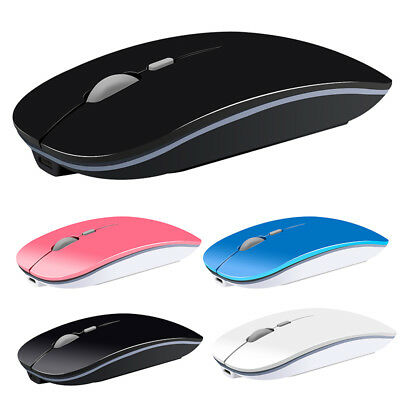 Optical Mice Wireless 2.4GHz USB Silent Button Rechargeable Slim Mouse O-Kit