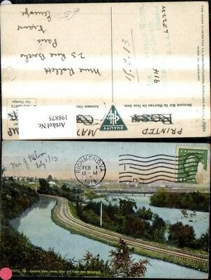 198875,Virginia Richmond General View James River and Canal from Hollywood