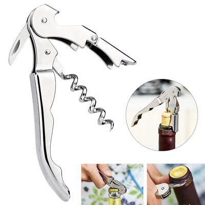 b51946f1250 STAINLESS STEEL BOTTLE Opener Waiter Metal Wine Corkscrew Handle ...
