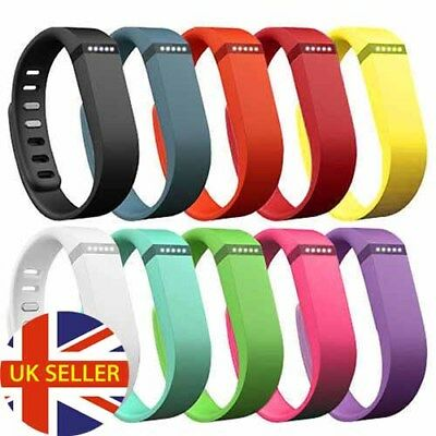 Replacement Silicone Sport Band Strap Fitbit Flex Activity Tracker Large + Small