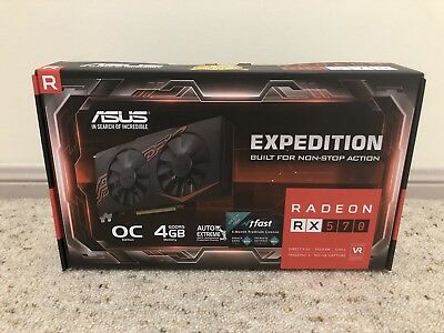 AMD Radeon RX 570 ASUS Expedition Gaming Graphics Card Mining 4GB OC GDDR5 HDMI
