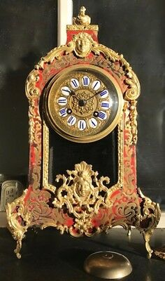 Antique French Tortoiseshell and Boulle Marquetry Ormolu Striking Bracket Clock