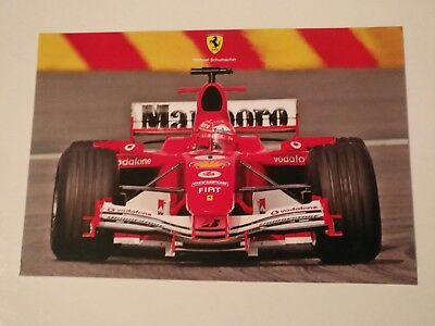 Michael Schumacher official Ferrari card. Very Rare