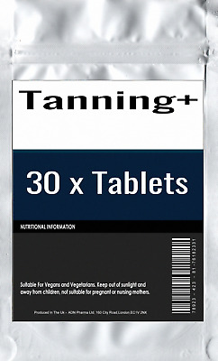 30 x TAN BOOSTER HIGH STRENGTH TAN & SLIM NATURAL HEALTHY TANNING TABLETS