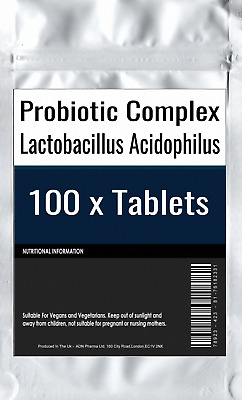 100 x Probiotic MAX 6 Billion CFU Veg Capsule Acidophilus FOS Prebiotic