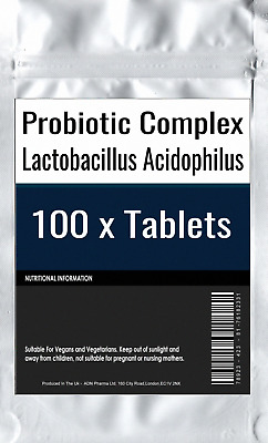 100 x Probiotic MAX 6 Billion CFU Veg Capsules Acidophilius HIGH Potency