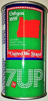 7 Up 36 Oklahoma United We Stand 1976 steel 12oz Limited Edition Commemorate can