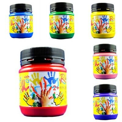 New 2x250ml Finger Paint  Washable Non Toxic Kids Student Art Craft Paint OZMade