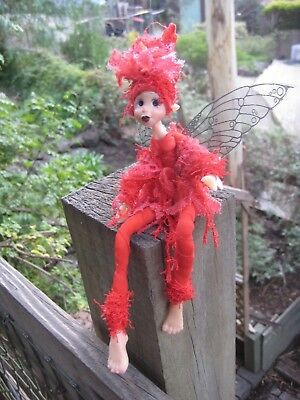 Magical Party Elf (Red) - Hand made By Conny