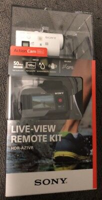 Brand New Sony HDR-AZ1VR Action Cam Mini Kit w/ Live View Watch & extra battery