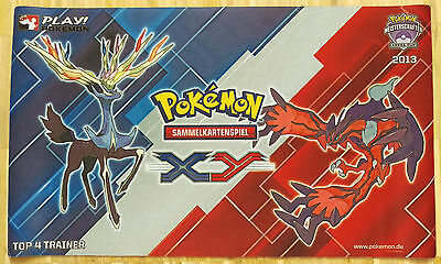 Pokemon Xerneas Yveltal Top 4 Trainer 2013 Spielmatte/Playmat Neu