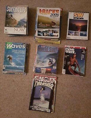 Surfing magazines late 90s - early 2000s 55+ issues assorted