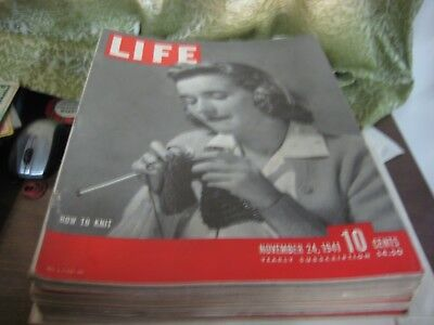 964-9  Life Magazine, November 24, 1941 Issue How To Knit Cover