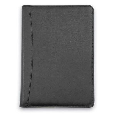 2018 NGT Management Portfolio Day Diary, Black Genuine Leather Cover, Wiro Bound