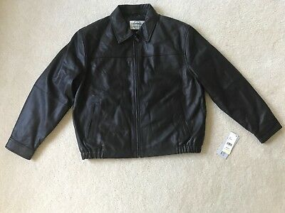 Boston Harbour Mens Leather Motorcycle Jacket brown XL