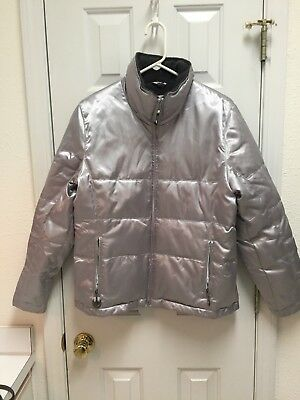 Men's Running River Silver Down Ski Jacket Size Small