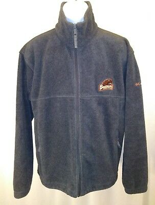 Mens Columbia OSU Beavers Zip up Fleece Jacket Size Large Gray EXCELLENT COND.