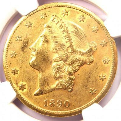 1890-CC Liberty Gold Double Eagle $20 Coin - NGC AU55 - Rare - $7,150 Value!