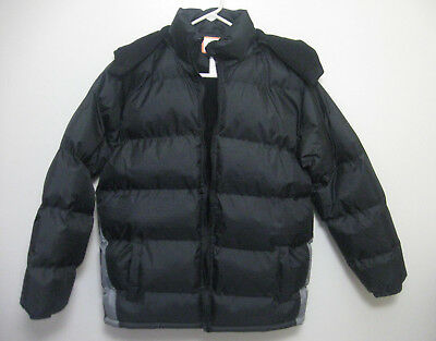 Operation Warm Black & Gray Hooded Puffer Winter Coat ~ Adult Men Size Small S