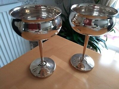 M & R silver Plated Goblets