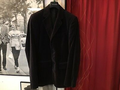 French Chic Agnes B 400€ black velvet Suit jacket Size EU 48 (S) Made in France