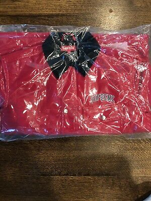 Supreme Red Quilted Patent Vinyl Work Jacket
